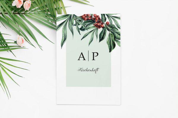 Extras Tropical Sorbus aucuparia Kirchenheft Hochzeit
