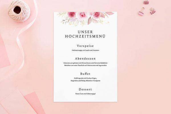 Extras Rosenpracht Klassisch Menükarten