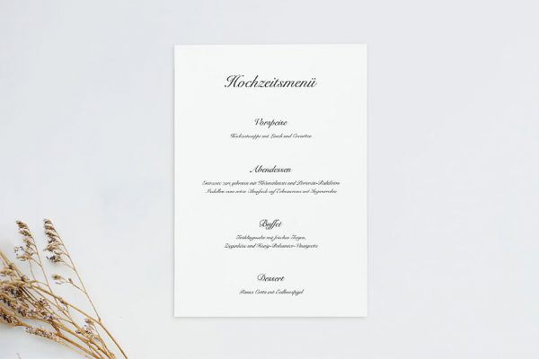 Extras Kalligraphie Elegant geschrieben Menükarten