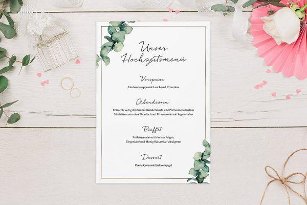 Extras Floral Elegant Romantisch Menükarten