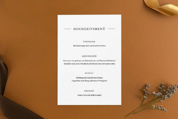 Extras Modern Monogramm mittig Menükarten