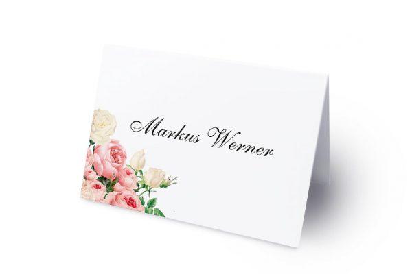 Extras Blumenherz Aromatisch Namenschilder & Tischkarten Hochzeit