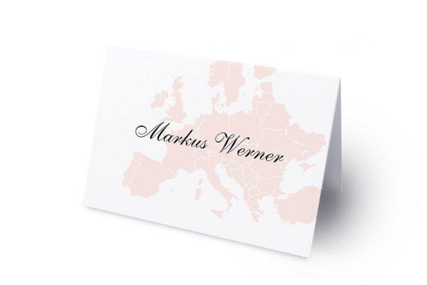 Extras Blumenherz Weltreise Namenschilder & Tischkarten Hochzeit