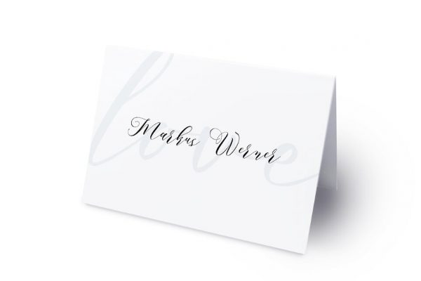 Extras Modern Bast Aktuell Namenschilder & Tischkarten Hochzeit