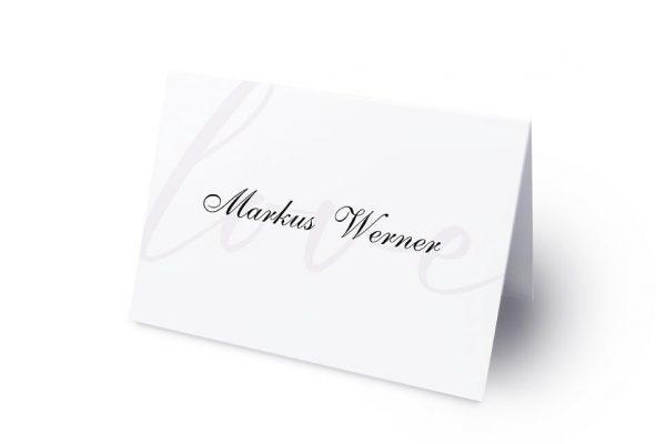 Extras Modern Bast Blau Namenschilder & Tischkarten Hochzeit