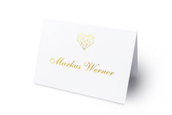 Extras Herzensangelegenheit dreidimensional Namenschilder & Tischkarten Hochzeit