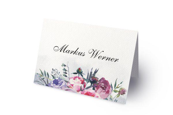 Extras Aquarell Sommerlich Namenschilder & Tischkarten Hochzeit