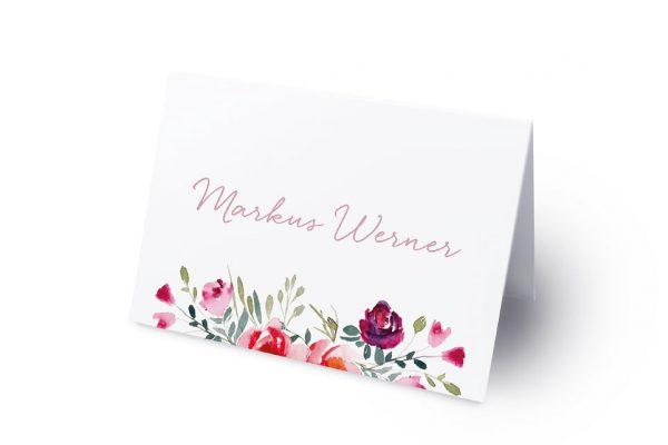Extras Blumenbeet Luftig Namenschilder & Tischkarten Hochzeit
