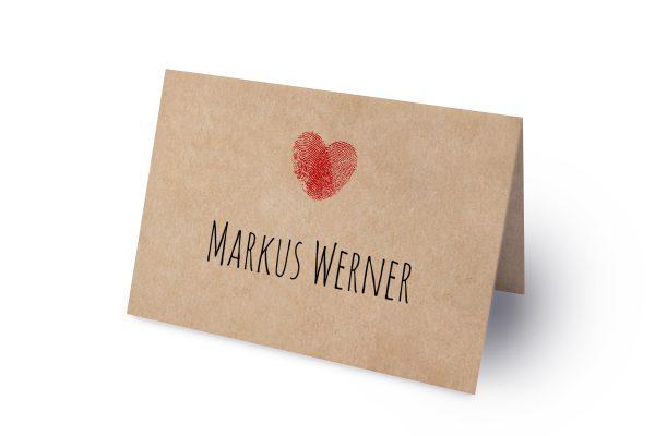 Extras Fingerabdruck Liebeserklärung Namenschilder & Tischkarten Hochzeit