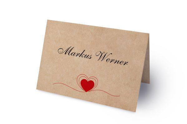 Extras Fingerabdruck Herzensding Namenschilder & Tischkarten Hochzeit
