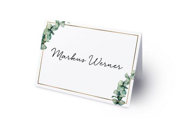 Extras Floral Elegant Romantisch Namenschilder & Tischkarten Hochzeit