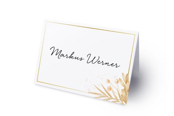 Extras Floral Elegant Traditionell Namenschilder & Tischkarten Hochzeit
