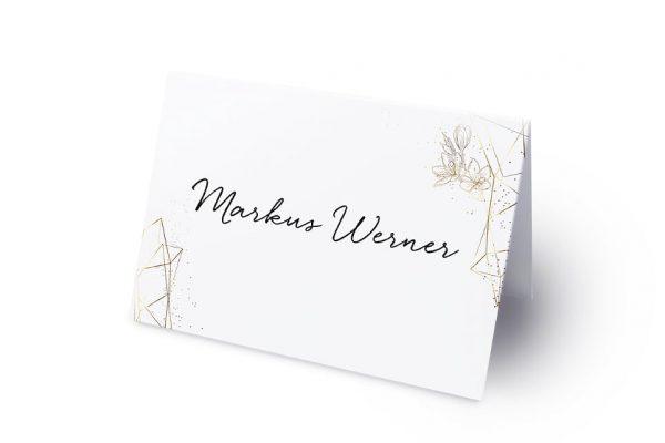 Extras Floral Elegant Blütenrahmen Namenschilder & Tischkarten Hochzeit