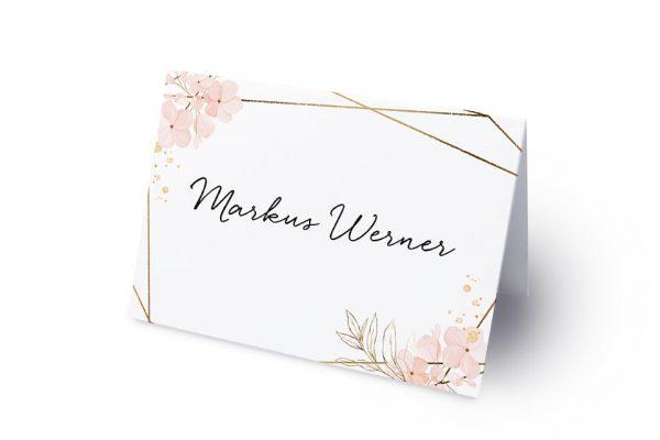 Extras Floral Elegant Blumenzeichnung Namenschilder & Tischkarten Hochzeit