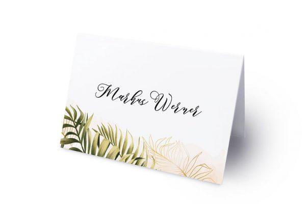 Extras Greenery Exotisch Namenschilder & Tischkarten Hochzeit
