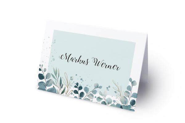 Extras Tropical Eukalyptus Namenschilder & Tischkarten Hochzeit