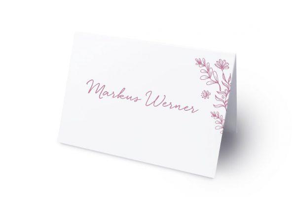 Extras Rosenpracht Traumhaft Namenschilder & Tischkarten Hochzeit