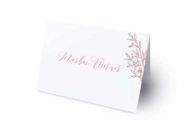 Extras Rosenpracht mit Korn Namenschilder & Tischkarten Hochzeit