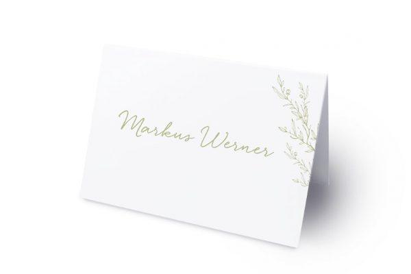 Extras Rosenpracht mit wildem Gras Namenschilder & Tischkarten Hochzeit