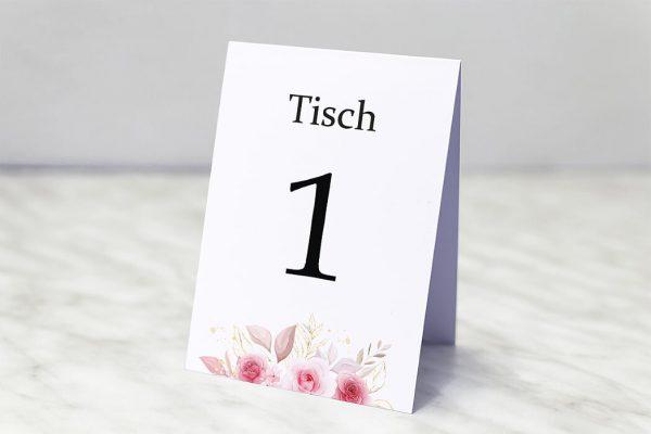 Extras Rosenpracht Klassisch Tischnummern