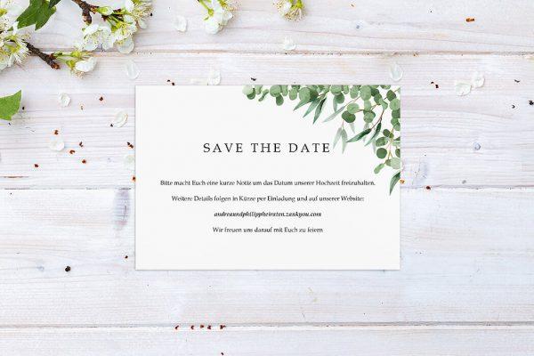Save the Date-Karten Laubfall Schattig Save the Date Karten