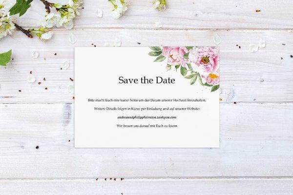 Save the Date-Karten Laubfall Spielerisch Save the Date Karten