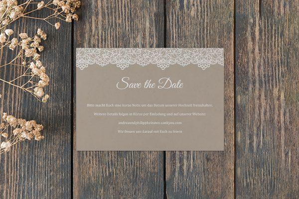 Save the Date-Karten Spitzentraum Vintage moon Save the Date Karten
