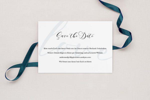 Save the Date-Karten Modern Bast Aktuell Save the Date Karten