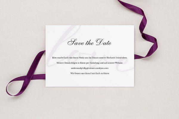 Save the Date-Karten Modern Bast Blau Save the Date Karten