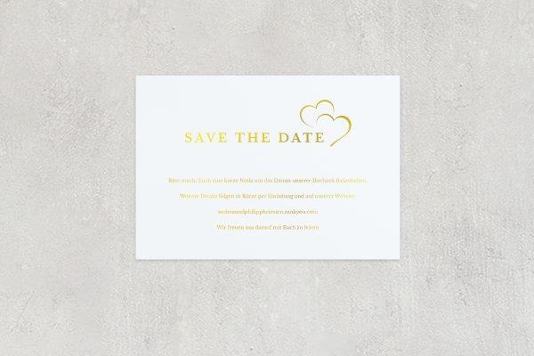 Save the Date-Karten Herzensangelegenheit angedeutet Save the Date Karten