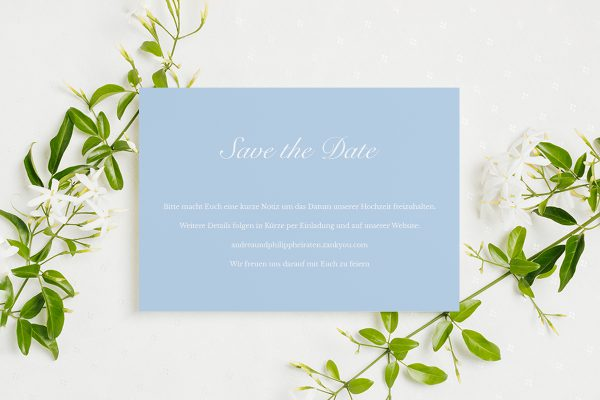 Save the Date-Karten Fotoglam Infinity Save the Date Karten