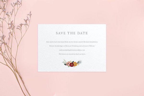 Save the Date-Karten Blumenbeet Sorglos Save the Date Karten