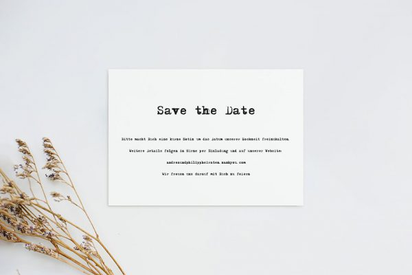Save the Date-Karten Kalligraphie Vintage Save the Date Karten