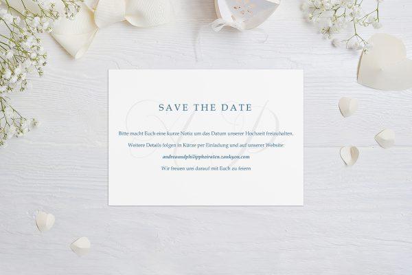 Save the Date-Karten Klassich Lässig Save the Date Karten