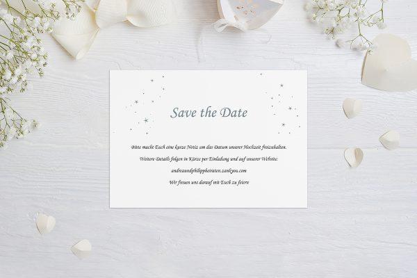 Save the Date-Karten Klassich Natürlich Save the Date Karten