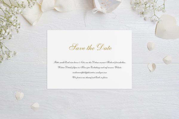 Save the Date-Karten Klassich Aufgelistet Save the Date Karten