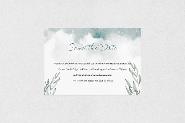 Save the Date-Karten Palmen verträumt Save the Date Karten