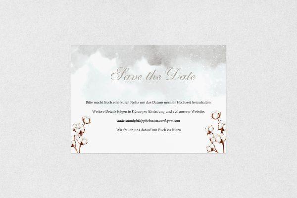 Save the Date-Karten Palmen weich Save the Date Karten