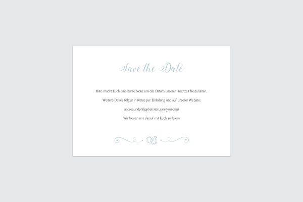 Save the Date-Karten Tender Love  Rings of Love Save the Date Karten