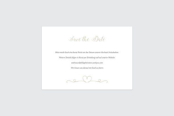 Save the Date-Karten Tender Love  Liebe Save the Date Karten