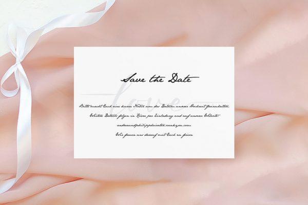 Save the Date-Karten Horizont Weit Save the Date Karten