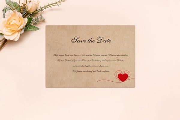 Save the Date-Karten Fingerabdruck Herzensding Save the Date Karten