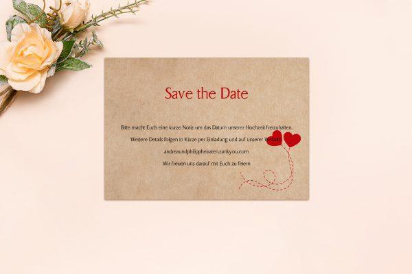 Save the Date-Karten Fingerabdruck Love  Save the Date Karten