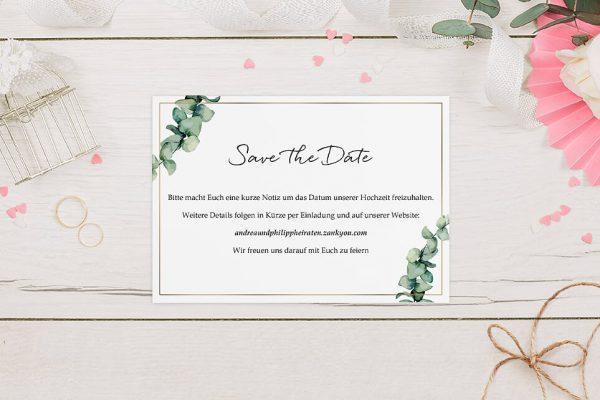 Save the Date-Karten Floral Elegant Romantisch Save the Date Karten
