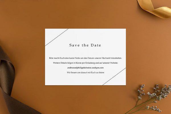 Save the Date-Karten Modern Monogramm quadratisch Save the Date Karten
