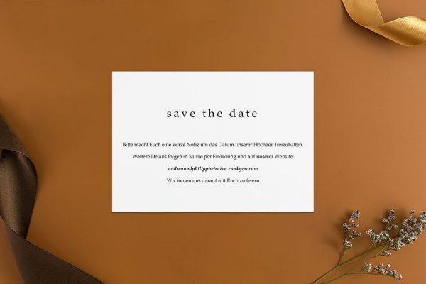 Save the Date-Karten Modern Monogramm Schild Save the Date Karten