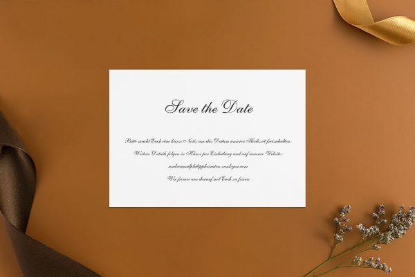 Save the Date-Karten Modern Schlicht Save the Date Karten