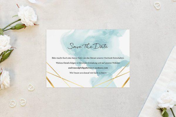 Save the Date-Karten Himmel Strahlend Save the Date Karten