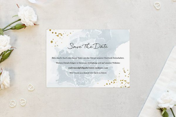 Save the Date-Karten Himmel Tiefblau Save the Date Karten