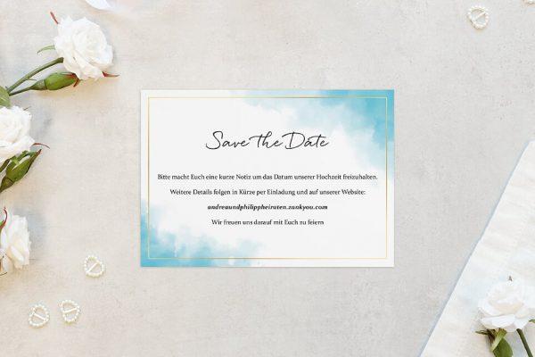 Save the Date-Karten Himmel Wolkig Save the Date Karten